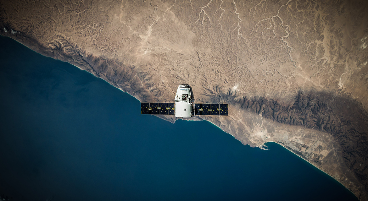 image of a satellite above earth - links to the Downloads page